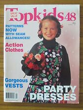 TOPKIDS NO. 48 - SEWING MAGAZINE OF KIDS FASHION - UNCUT PATTERNS INCLUDED