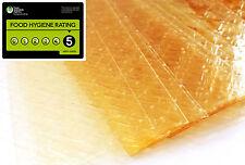 5 Large Sheets of Halal Bronze Leaf Gelatine Beef Gelatin Sheet 130-140 blooms