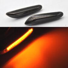 For BMW E60 E81 E83 E87 E90 E92 LED Side Indicator Repeater Lights Black Smoke