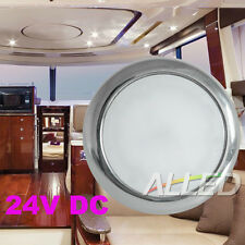 """4"""" 24V 316 Stainless steel LED Down Roof  Dome Light Boat Marine Lamp Pure White"""