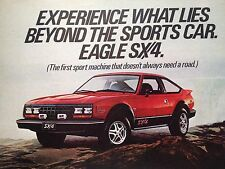 1981 AMC Eagle SX4 Original Print Ad American Motors Automobile Car