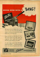 1946 PAPER AD Electoy Electronic Toy Cannon Electric Laboratories Inc