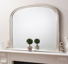 """Toronto Silver Arched Top Dome Overmantle Wall Mirror  3ft 11"""" x 3ft 1"""""""