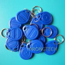 RFID 125KHz EM4100 Proximity ID Token Tag Key Keyfobs Chain Blue-50pcs