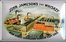 John Jameson's Bow Street Distillery Dublin embossed steel sign (hi) REDUCED
