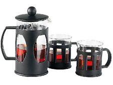 Kaffeebereiter Teebereiter Set mit 2 Tassen Teetassen Kaffeetassen Kaffeedrücker