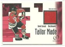 01 02 Fleer Legacy Denis Savard Tailor Made Jersey Card BV $15