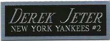 DEREK JETER NAMEPLATE FOR YOUR AUTOGRAPHED Signed Baseball Display CUBE CASE