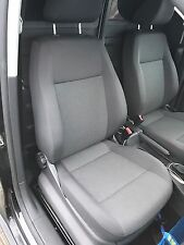 VW CADDY 2K 2004-2015 FRONT RIGHT SIDE DARK GREY CLOTH SEAT MANUAL 2014 MODEL