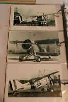 WWII U.S. NAVY MACON CURTISS SPARROWHAWK BIPLANES LOT OF 3 B&W 4X6 PHOTOGRAPH 78