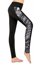 Women's Yoga Pants Workout Capri Leggings Running small With Side Pockets S/M