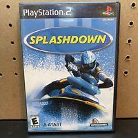Sony PlayStation 2 PS2 Splashdown Game Disc Complete CIB w/Box,Manual Sea Doo