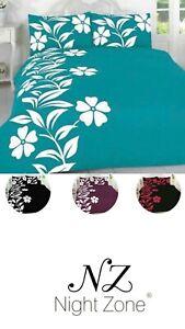 Complete or Duvet Cover Set Quilt Pillow cases single Double Super King Flower