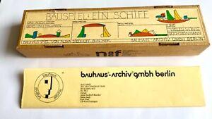 Vintage Bauhaus 'Bauspiel: Ein Schiff' set Alma Siedhoff-Buscher / Naef Design