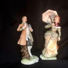Lefton China Couple Man Woman Vtg Figurines Kw388A Kw388B Hand Painted Japan