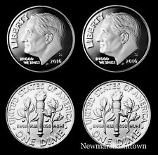 2016 P+D+S+S  Roosevelt Dime Mint Proof Set ~ Silver Clad Proofs & PD Bank Roll