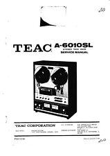 Service Manual-Anleitung für Teac A-6010 SL