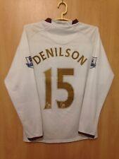 ARSENAL LONDON 2007/2008 AWAY FOOTBALL SHIRT JERSEY L/S DENILSON #15