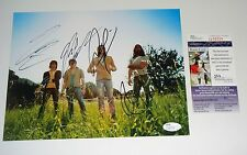 Kings Of Leon GROUP Signed 8x10 Photo COA PROOF ALL 4  JSA CERT FREE SHIPPING