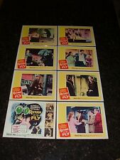 RETURN OF THE FLY Original 1959 Complete Lobby Card Set, C8 Very Fine Condition
