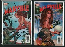Marville  #3 #4  Greg Horn Nude Covers Volleyball NM (Marvel 2002) UNUSED C4.32