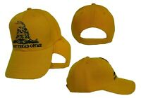 Embroidered Gadsden Don't Tread on Me Tea Party Yellow Baseball Hat Cap (RUF)