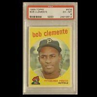1959 Topps ROBERTO CLEMENTE PSA 6 Card #478 Bob Clemente Pittsburgh Pirates