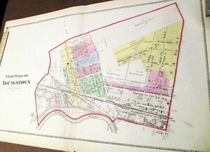 Handcolored 1874 Youngstown Ohio Map 1st Ward