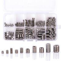 200Pcs 304 Stainless Steel Grub Screws Hex Socket Screw Assortment Kit Set F1E3