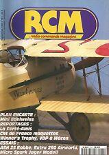 RCM N°161 PLAN : MINI EDELWEISS / ASH 25 ROBBE / EXTRA 260 AIRWORLD /FERTE-ALAIS