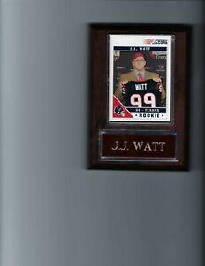 J.J. WATT PLAQUE HOUSTON TEXANS FOOTBALL NFL   C