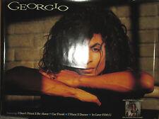 GEORGIO - 1988 Motown promotional poster, 23x30, EX
