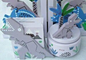 Gisela Graham DINOSAUR Wooden Money Box or Music Box T-Rex Triceratops GIFT IDEA