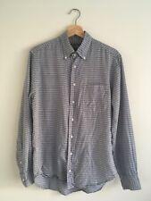Gitman Vintage Blue / White Summer Striped Size Medium Made In USA