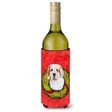 Caroline's Treasures-Cristmas Wreath Wine Bottle Beverage Insulator Beverage .