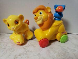 Amazing Animals Clicker Pals Baby Simba and Mufasa The Lion Fisher Price Disney
