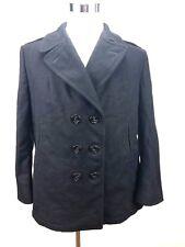 Authentic US NAVY PEA COAT Womens Overcoat 100% WOOL Size 20R