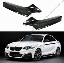 PAIR OF REAL CARBON FIBER FRONT BUMPER SPLITTER KIT FITS 2014-18 BMW M235i COUPE