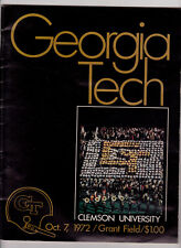 10/7/1972 Georgia Tech Yellow Jackets vs Clemson Tigers football program