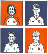 Luton Town Legends A4 Size Colour Caricature Limited Edition Print,Only £7.75p !