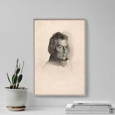 William Blake-Retrato de Wilson Lowry (1824) Pintura de impresión de arte cartel Regalo