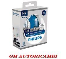 Kit 2 Lampade Philips H7 White Vision + 2 W5W Lampadine Fari Effetto Xenon