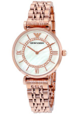 EMPORIO ARMANI Mother of Pearl Dial Rose Gold Ladies Watch AR1909