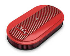 """Holley 120-404 Red 3"""" Oval Finned Air Cleaner Assemble Single Carb Aluminum"""