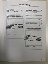 LAND ROVER SERVICE BOOK STAMPED, RECOVER YOUR LOST SERVICE HISTORY- FAST POSTAGE