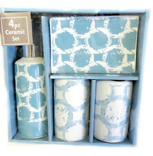 Designer 4-Piece Ceramic Bath Accessory Set Free Shipping From Usa