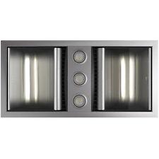 IXL Neo Dual 3 in 1 Hardwired Bathroom Heater Fan Light Tastic in Silver 32112