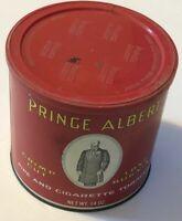 Vintage Prince Albert Crimp Cut EMPTY Tobacco Tin COLLECTIBLE!! 14 oz Round Can