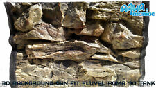 3D Rock Aquarium Background Size: 58x40cm Can Fit: Fluval Roma 90