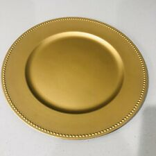 Charger Plate Gold13 Diameter Acrylic New